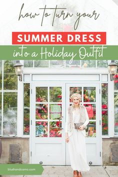 It may be winter time, but that doesn't mean you have to stop wearing your summer dresses! Let me show you how to turn any summer dress into a holiday outfit using what you have in your closet right now!  #holidayoutfit #wardrobeessentials #chiconabudget #fauxfur