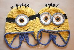 http://www.ravelry.com/patterns/library/crochet-minion-hat-2