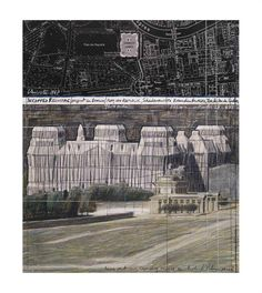Javacheff Christo-Wrapped Reichstag, Project for Berlin, Collage XIII-Poster Christo Art, Environmental Sculpture, Christo And Jeanne Claude, Collage, Museum, Exhibition Poster, Ways Of Seeing, Berlin Germany, Land Art