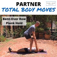 Partner Total Body Moves: Ready for a fun and * not corny * couple's workout routine? Gym Workout Videos, Running Workouts, At Home Workouts, Running Gear, Trail Running Motivation, Running Quotes, Couples Workout Routine, Couple Workout, Workouts For Couples