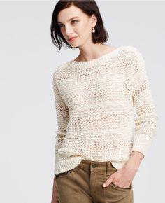 Open Stitch Sweater | Ann Taylor