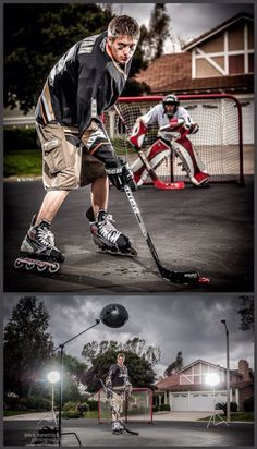 A few teaser images from a senior portrait shoot this week. Tom's an avid street hockey player and a rabid Anaheim Ducks fan, so we wanted to capture some of that passion in his portrait session. It's been a bit rainy here in SoCal this week, so we were fortunate to shoot between storms, and had some nice threatening clouds for background… SENIOR PORTRAIT HOCKEY SHOOT W/BEHIND THE SCENES LIGHTING SETUP by Jon C. Haverstick