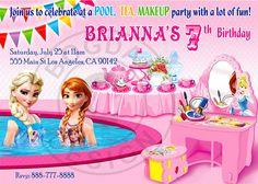 Frozen Pool party Frozen Tea party Frozen Makeup by BogdanDesign