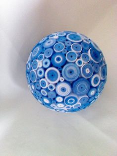 A sphere covered in tightly rolled blue and by Stedmancollection, £20.00