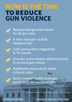 The only people standing in the way of common sense solutions to reduce gun violence are Republicans. For God's sake, can you not even do ONE good thing for this country?