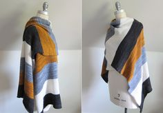 PASHMINA STRIPES Pashmina Stripes is an easy, high-impact wrapworked inalternating 30-row stripes of fourcoordinating colours.Madelinetosh Pashmina is knitat a loosegauge for maximum drape an…