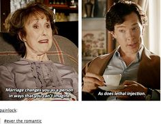 """As does lethal injection""! I love Sherlock so much. ^_^"
