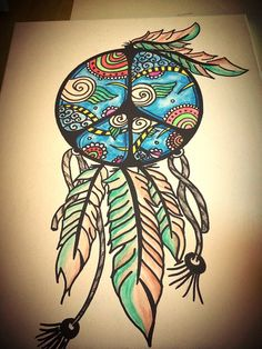 Finished it tonight!! #bohemian #draw #doodling #dreamcatcher #peace