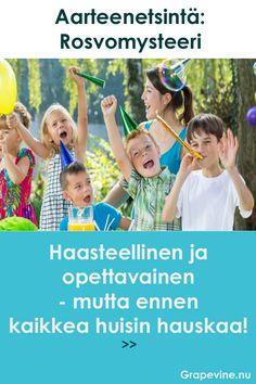 Jos olet aikeissa järjestää lastenjuhlat ja haluat että juhlissa on jotain muuta aktiviteettia kuin perinteinen onginta, ovat aarteenetsintätuotteemme täydellinen vaihtoehto! Happy Birthday Kids, Birthday Parties, Games For Kids, Diy For Kids, Diy Games, Growing Up, Diy And Crafts, Kindergarten, Birthdays