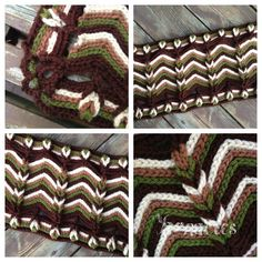 ::Rolling Ridge Blanket Crochet Pattern::