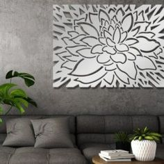 Laser Cut Metal Decorative Wall Art Panel Sculpture For Home, Office , Indoor or Outdoor Use (Daisy) Partition Design, Panel Wall Art, Decor, Wall, Decorative Panels, Wall Decor, Tree Wall Art, Panel Art, Metal Wall Art