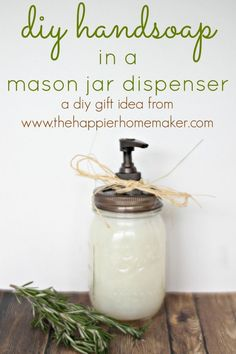 diy handsoap in a mason jar