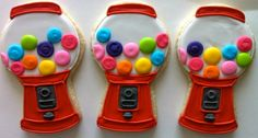Bubble Gum Machine Cookies