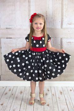 black Polka Dot dressblack and white polka by loverdoversclothing