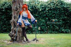 Anime. Fairy Tail, Character: Erza Scarlet. Version: Kimono.  Cosplayer: Doroty - Erza Dory / SidneyRobin. From: Italy. Photo: Davide Morello, 2015.