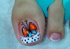 Pedicure Designs, Toe Nail Designs, Nail Polish Designs, Pedicure Nails, Manicure, Nails & Co, Summer Toe Designs, Pretty Pedicures, French Pedicure