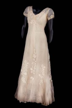 "Grace Kelly ""Princess Alexandra"" ivory silk chiffon evening gown by Helen Rose from The Swan"