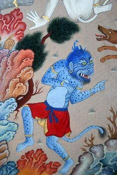 "Detail of ""Hushang kills the Black Demon"" Aghavan Samadian, living miniature artist!"