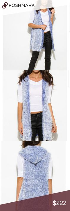 🆕️ Cozy Duster Cardigan Vest! Wrap yourself up and indulge in the ultimate comfort in this uber soft and cozy duster cardigan. This cute vest is made of a fuzzy knit that's luxurious and stylish. Throw this over a dress or denim also. It's effortless and chic!  45% Acrylic  35% Cotton Blend 20% Cotton Sweaters