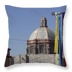 Colors of San Miguel de Allende Throw Pillow by Cathy Anderson
