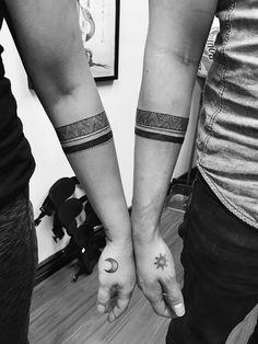 Couples armband tattoo