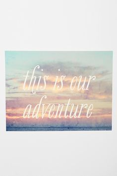 This Is Our Adventure Print  #UrbanOutfitters