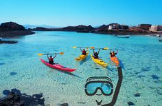 Join our guided sea kayaking trips and courses and enjoy the raw beauty of Fuerteventura, the wildest coastline in the Canary Islands. Cruise America, Berlin Travel, Paragliding, Canario, Canary Islands, Spain Travel, Tenerife, Holiday Travel, Snorkeling