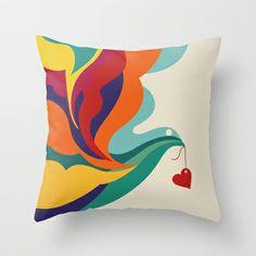 Love Message Throw Pillow by Budi Satria Kwan -