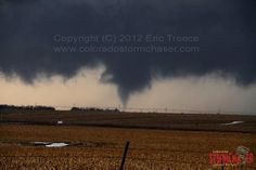 """The historic """"1st ever documented tornado in the month of February in Nebraska"""".....complete with snow on the ground. Feb, 2012."""