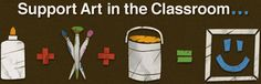 Dick Blick Art Room Aid- such a fabulous project to make your class's needs known and to receive support within your community and beyond. Support Art in the Classroom