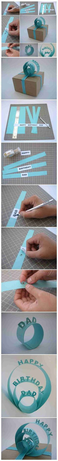 How to Make Sign Gift Topper to Decorate a Gift - - Presents wrapped in a creative way are so lovely! Here is a cute idea to Make Sign Gift Topper to decorate a gift in a pretty way. Creative Gift Wrapping, Wrapping Ideas, Creative Gifts, Christmas Gift Wrapping, Diy Christmas Gifts, Easy Gifts, Cute Gifts, Papier Diy, Wie Macht Man