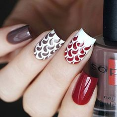Whats Up Nails - Droplets Nail Stencils Stickers Vinyls for Nail Art Design (2 Sheets, 24 Stencils Total) : Beauty