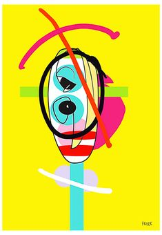Twobble Gob by Sam Freek - Contemporary art prints for the modern home - #art #artprint #abstractart #portrait