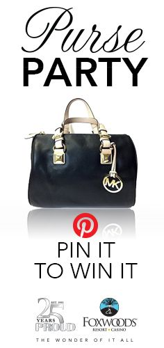 Re-pin to enter to win this Michael Kors purse from #Foxwoods! Ends 8/18/17 at noon 12:00PM EDT.
