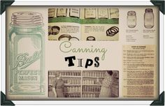 canning tips collage Canning Round up of Tips & Tricks