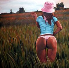 Thomas Saliot Pink hat and butterfly Thomas Saliot, Art Thomas, Sexy Cartoons, Pink Hat, Art Model, French Artists, Big And Beautiful, Erotic Art, Female Art