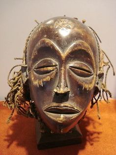 Rare Chokwe , Angola, D.of the Congo Zambia female mask