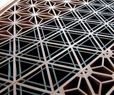 Kumiko latticework. I'll make something like this one day and turn it into a table.