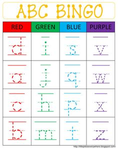 Little Piles Everywhere: ABC BINGO - LOWERCASE  Shapes and colors too! Perfect time killer and/or inside activity for PEPPers and Ks