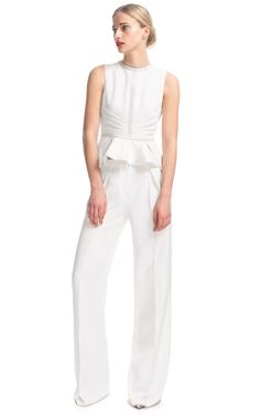 Ivory Wide Leg Pants by J. Mendel for Preorder on Moda Operandi