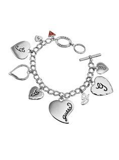 Multi Heart Charm Bracelet | GUESS.eu