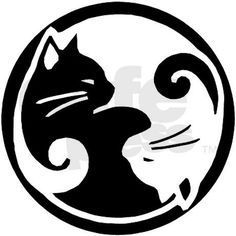 yin yang cat pumpkin stencil -