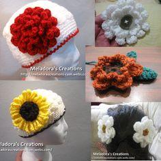 11 Free Flower Patterns with video tutorials - Meladora's Creations