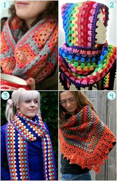 Free Granny Crochet Shawls and Scarf Patterns! Love granny crochet!: