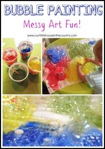 Bubble Painting Messy Art