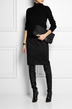 Stella McCartney Kelly wool-twill pencil skirt NET-A-PORTER.COM