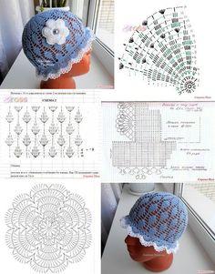 Childrens Crochet Hats, Crochet Kids Hats, Baby Hats Knitting, Crochet Baby Clothes, Easy Crochet Hat Patterns, Crochet Headband Pattern, Crochet Diagram, Crochet Motif, Sombrero A Crochet