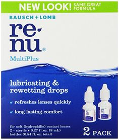 Bausch & Lomb ReNu MultiPlus Lubricating & Rewetting Drops, 2-Count, 0.27-Ounce Bottles Bausch & Lomb http://www.amazon.com/dp/B001ET7D2O/ref=cm_sw_r_pi_dp_kbIMub0PCTMD0