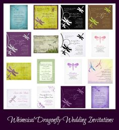 Whimsical Dragonfly Wedding Invitations