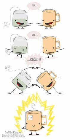 Infusão de Chá!! Kkkk muito bom! #tealover